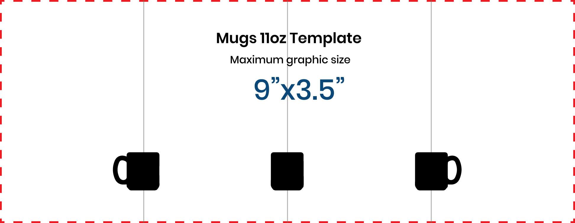 maximum printable area for mugs