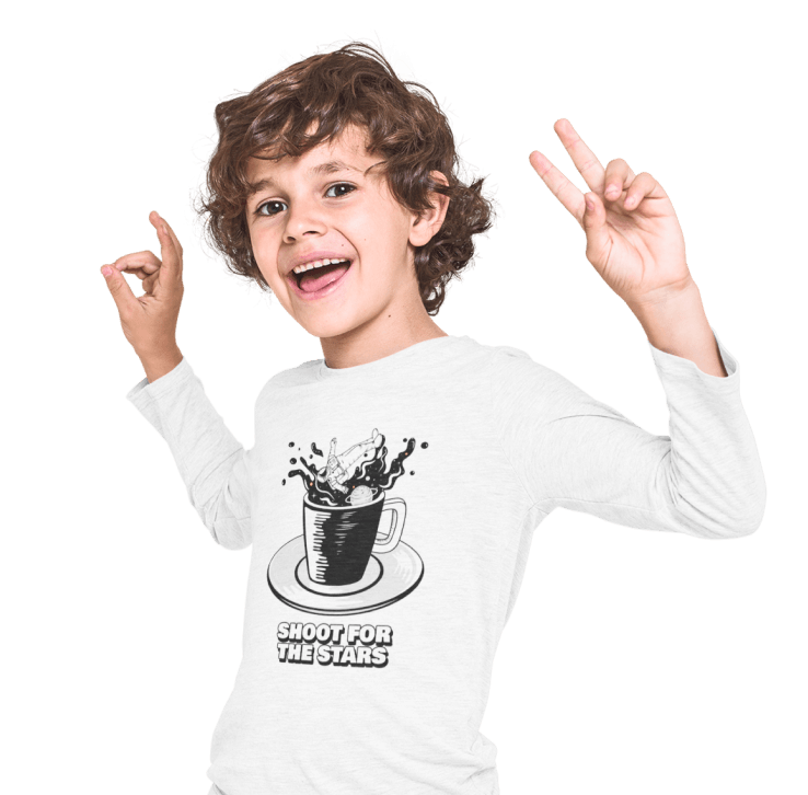 Customized kids' long sleeve shirt