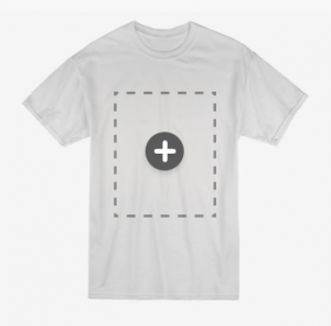 blank T-shirt for customizing