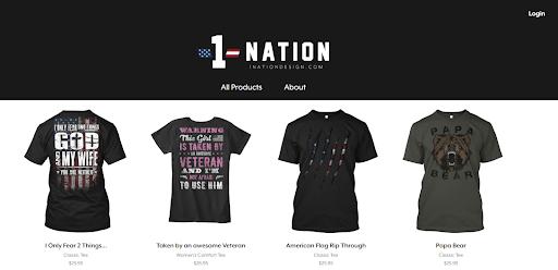 1 nation t shirts